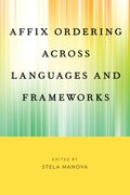 Cover for Affix Ordering Across Languages and Frameworks
