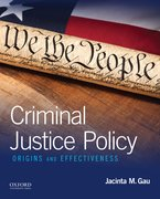 Cover for Criminal Justice Policy