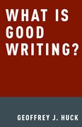 Cover for What Is Good Writing?