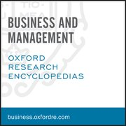 Cover for Oxford Research Encyclopedias: Business and Management