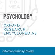 Cover for Oxford Research Encyclopedias: Psychology