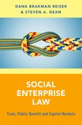 Cover for Social Enterprise Law