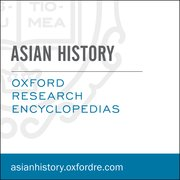 Cover for Oxford Research Encyclopedias: Asian History