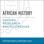 Cover for Oxford Research Encyclopedias: African History