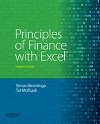 Cover for Principles of Finance with Excel