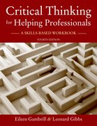 Cover for Critical Thinking for Helping Professionals - 9780190297305
