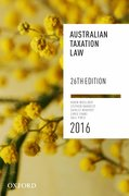 Cover for Australian Taxation Law 2016