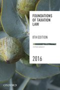 Cover for Foundations of Taxation Law 2016