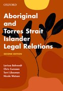 Cover for Aboriginal and Torres Strait Islander Legal Relations