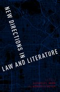 Cover for New Directions in Law and Literature - 9780190456375