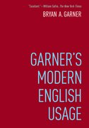 Cover for Garner's Modern English Usage - 9780190491482