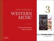 Cover for Oxford Anthology of Western Music - 9780190600334