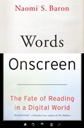 Cover for Words Onscreen - 9780190624163