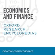 Cover for Oxford Research Encyclopedias: Economics and Finance