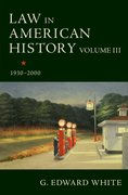 Cover for Law in American History, Volume III