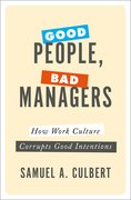 Cover for Good People, Bad Managers - 9780190652395