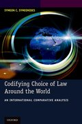 Cover for Codifying Choice of Law Around the World