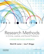 Cover for Research Methods in Crime, Justice, and Social Problems
