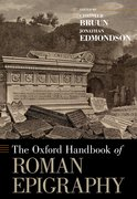 Cover for The Oxford Handbook of Roman Epigraphy