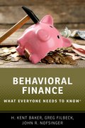 Cover for Behavioral Finance - 9780190868734