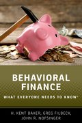 Cover for Behavioral Finance - 9780190868741