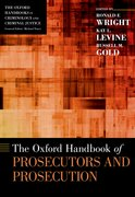 Cover for The Oxford Handbook of Prosecutors and Prosecution