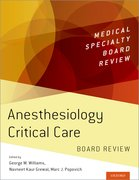 Cover for Anesthesiology Critical Care Board Review