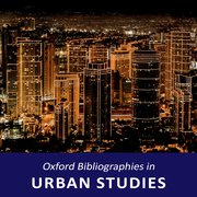 Cover for Urban Studies