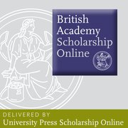 Cover for British Academy Scholarship Online - History