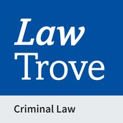 Cover for Law Trove: Criminal Law 2021