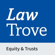 Cover for Law Trove: Equity & Trusts 2021