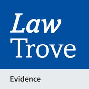 Cover for Law Trove: Evidence 2021