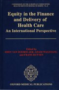 Cover for Equity in the Finance and Delivery of Health Care