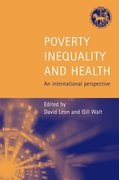 Cover for Poverty, Inequality and Health