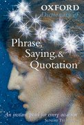 Cover for Oxford Dictionary of Phrase, Saying, & Quotation