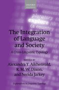 Cover for The Integration of Language and Society
