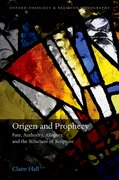 Cover for Origen and Prophecy
