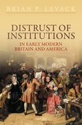 Cover for Distrust of Institutions in Early Modern Britain and America