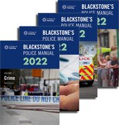 Cover for Blackstone's Police Manuals Four Volume Set 2022 - 9780192848482