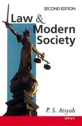 Cover for Law and Modern Society