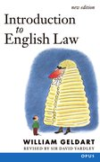 Cover for Introduction to English Law