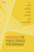 Cover for Managing for Public Service Performance
