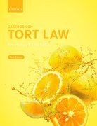 Cover for Casebook on Tort Law