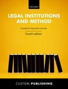 Cover for Newcastle University: Legal Institutions and Method