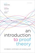 Cover for An Introduction to Proof Theory