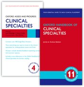 Cover for Oxford Handbook of Clinical Specialties 11e and Oxford Assess and Progress: Clinical Specialties 4e