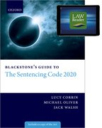 Cover for Blackstone's Guide to the Sentencing Code 2020 Digital Pack - 9780192896971