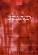 Cover for Gradient Acceptability and Linguistic Theory