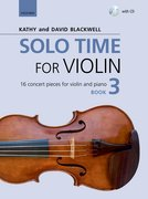 Cover for Solo Time for Violin Book 3 + CD - 9780193404908