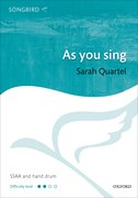 Cover for As you sing